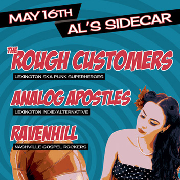 Rough Customers - Lexington, KY Concert Poster