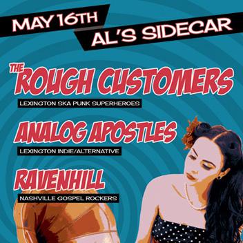 Rough Customers - Lexington, KY Concert Poster
