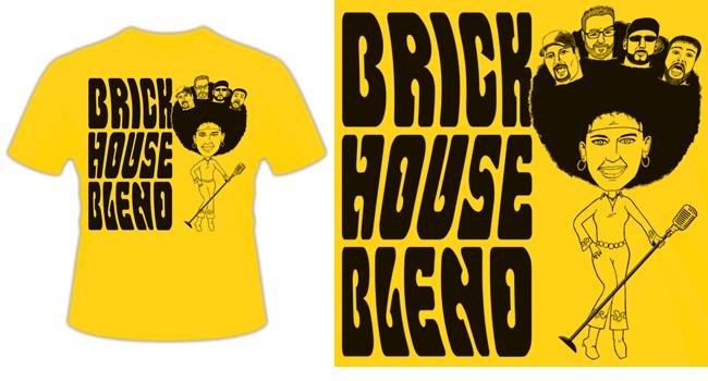 "Brick House Blend ""Afro"" Band T-Shirt"