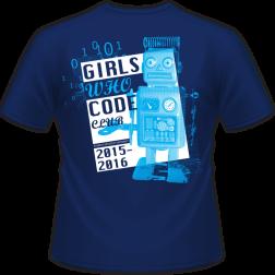 "Murray, KY ""Girls Who Code"" shirt design back"