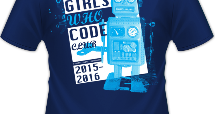 "Murray, KY ""Girls Who Code"" shirt design back"