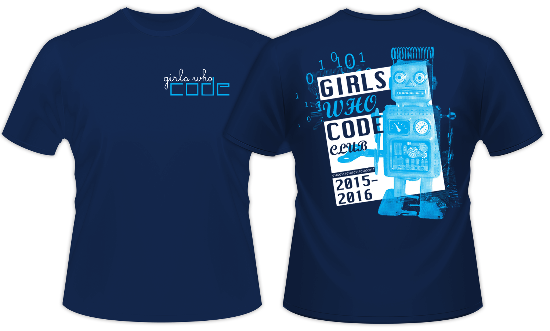 Design t shirt back -  Girls Who Code Retro Shirt Design Front And Back