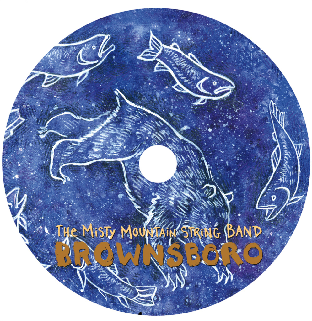 "Misty Mountain String Band ""Brownsboro"" CD Disc Face"