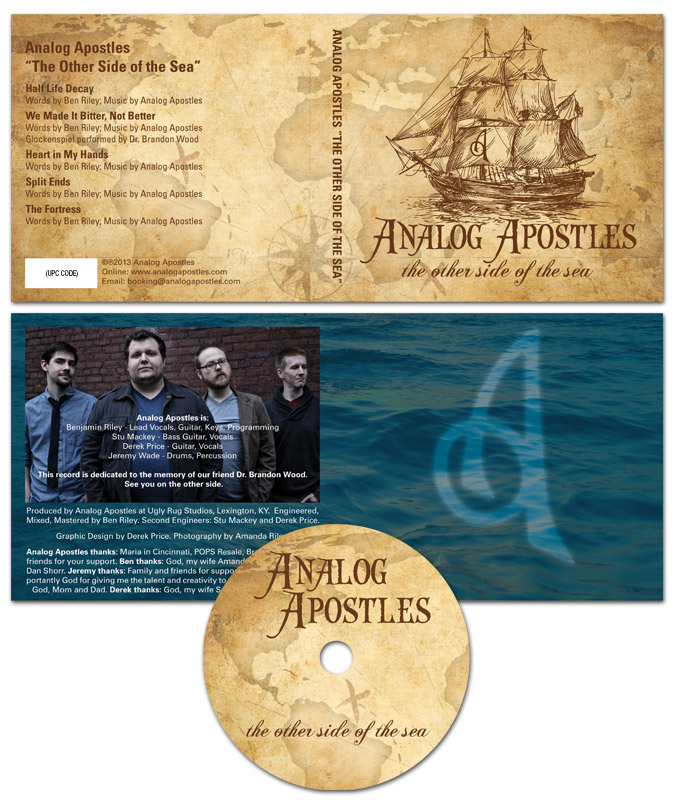 "Analog Apostles CD Art for ""The Other Side of the Sea"" EP"