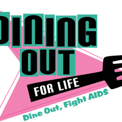 Dining Out for Life retro logo design