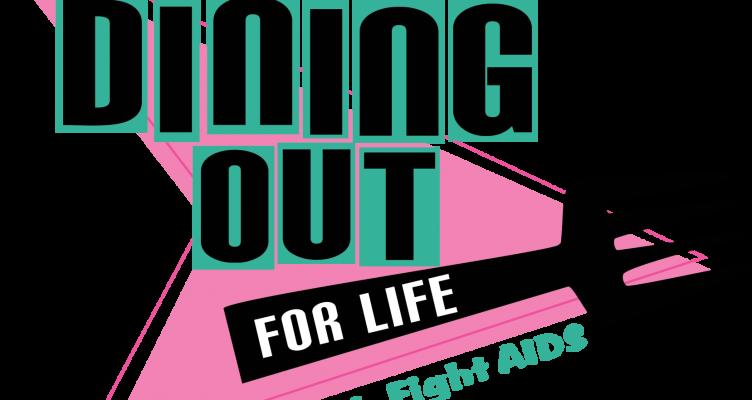 Dining Out for Life retro logo design
