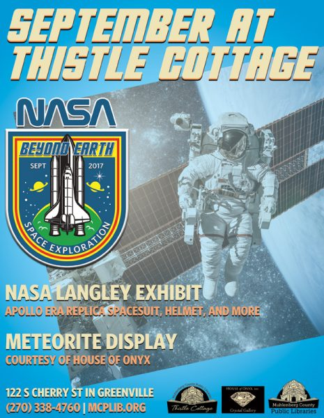 Museum exhibit ad design for NASA display in Kentucky