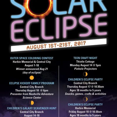 Solar Eclipse Event Poster Design