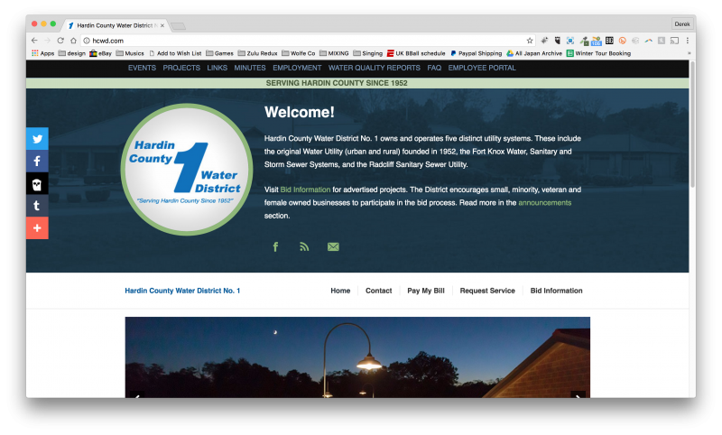 Utility Website Design - Hardin County, Kentucky Water District