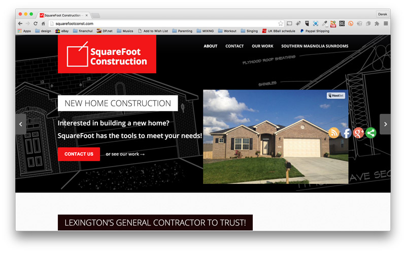 SquareFoot Construction Website Design - Lexington, KY Building Contractor