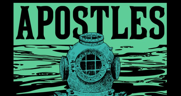 "Analog Apostles ""Deep Sea Diver"" band shirt design"