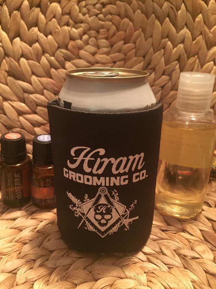 Hiram Grooming Co. Can Coozie featuring my logo design