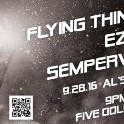 Handbill for Lexington, KY band Flying Things