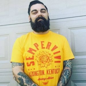 Sempervivi T-Shirt Design, modeled by Jeremiah Duncan of Lexington, Kentucky
