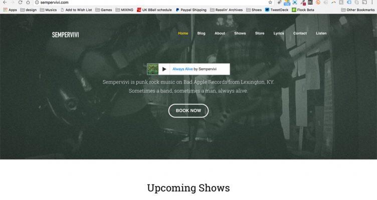 Sempervivi band website design