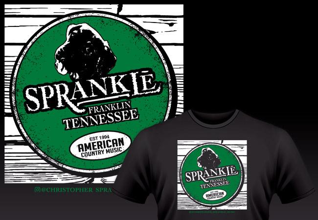 Parody shirt design for Lexington, KY Country Music Singer Christopher Sprankle