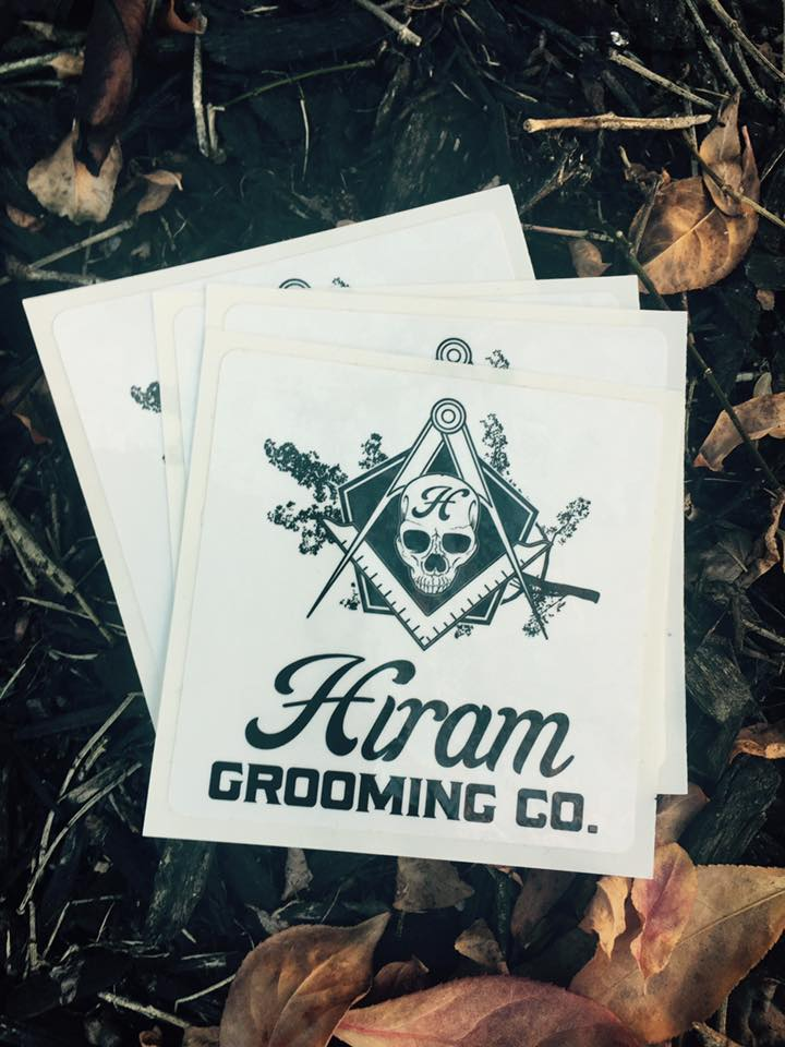 Hiram Grooming Co. Stickers featuring my logo design