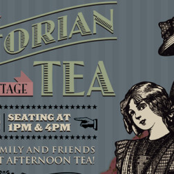 Thistle Cottage Victorian Tea 2015 - Poster Design