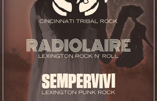 Flyer design for Cincinnati band Acarya concert in Lexington, KY