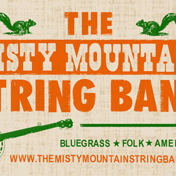 3x5' banner for Misty Mountain String Band of Louisville, KY