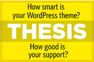 Get Smart with the Thesis Theme for Wordpress!