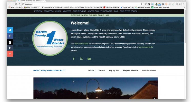 Utility Website Design - Hardin County, Kentucky Water District