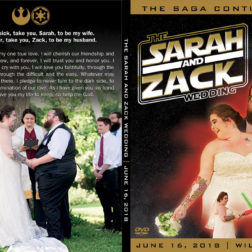 Star Wars themed wedding DVD design