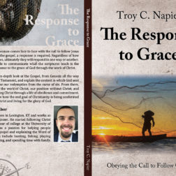 Book jacket art for Response to Grace