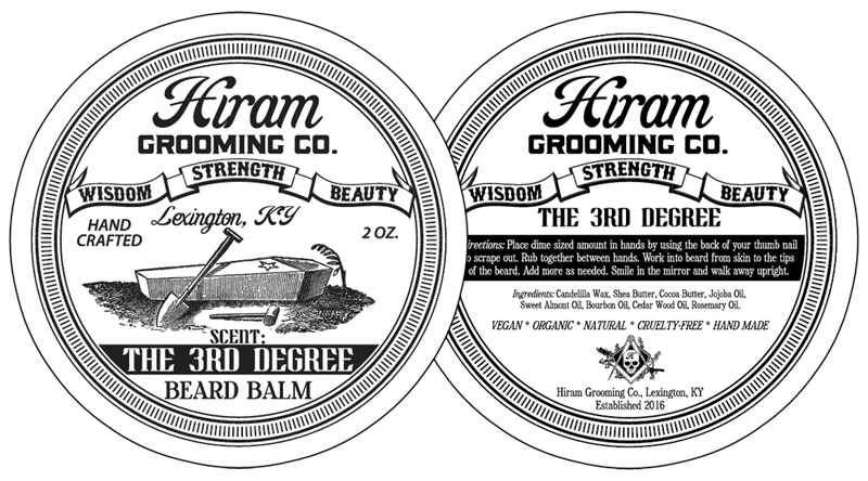 can label design for hiram grooming co of lexington ky. Black Bedroom Furniture Sets. Home Design Ideas