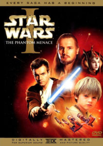 "Original ""Star Wars Episode 1: The Phantom Menace"" artwork I based the wedding DVD art on."