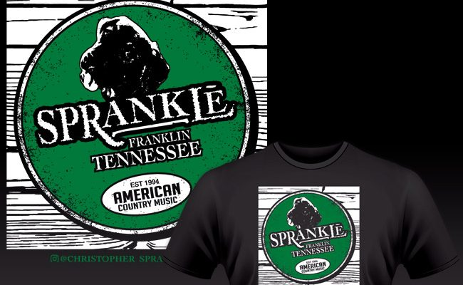 Parody shirt design for Lexington, KY Country Music Singer Christopher Sprankle