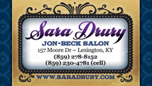 Sara Drury Business Card