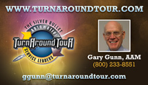 Turnaround Tour Gary Gunn Business Card