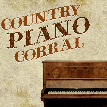 """Country Piano Corral"" Digital Download Music Art"