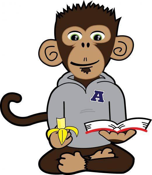 Mascot graphic design - ACCA cartoon monkey art for nonprofit