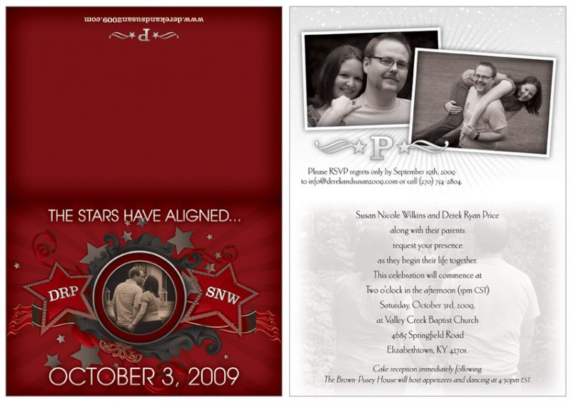 Wedding Invitation Design for Price family in Lexington, KY