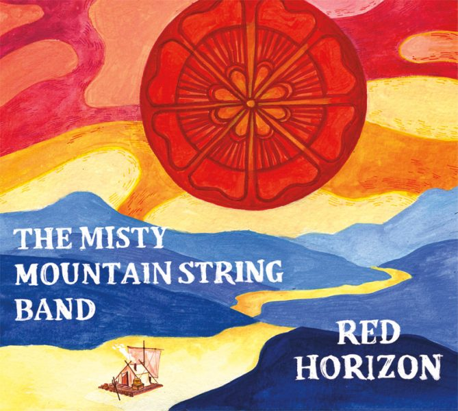 "Misty Mountain String Band ""Red Horizon"" CD Design Cover"