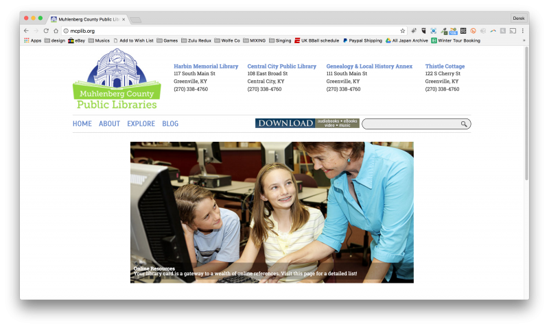 Muhlenberg County Public Library Website Design