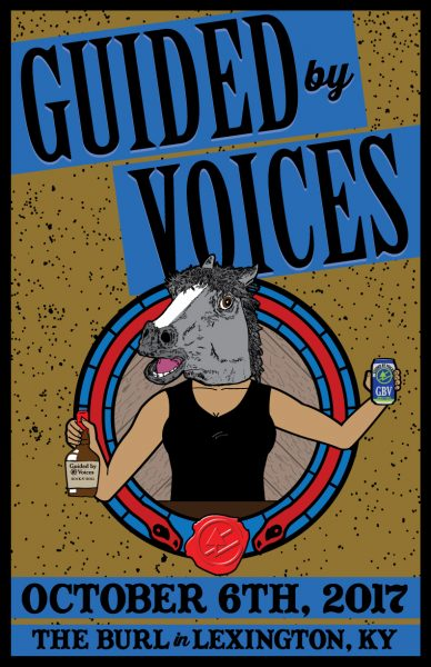 custom concert poster design for guided by voices kentucky graphic art