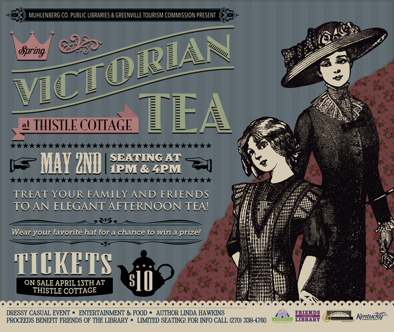Thistle Cottage Spring 2015 Victorian Tea Poster Design