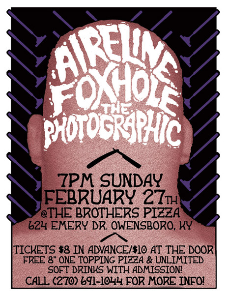 Rock concert poster design - Concert flyer for Aireline in Owensboro, KY.