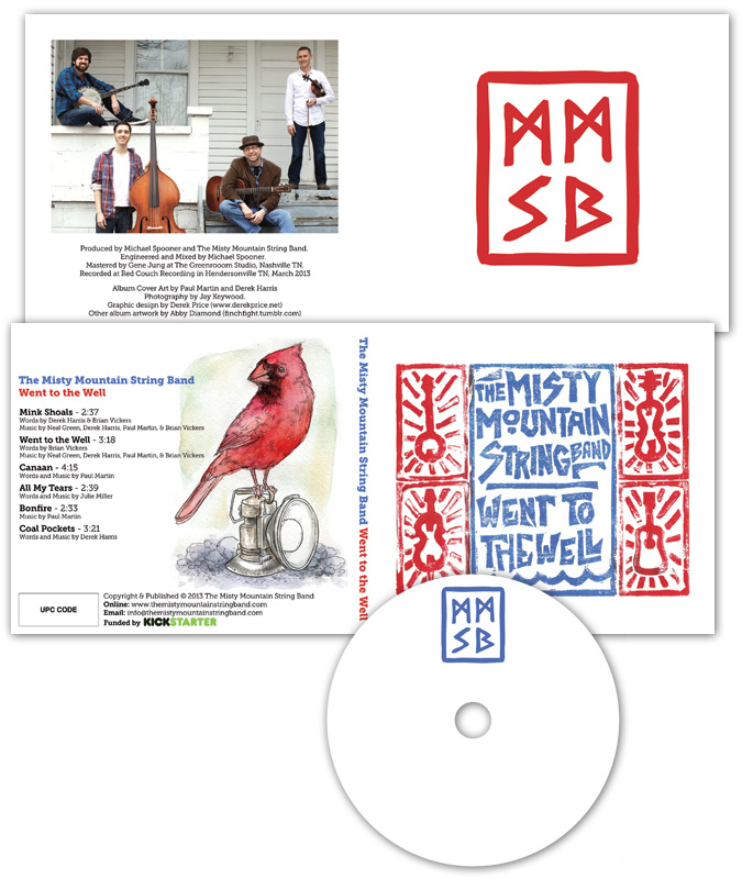 Misty Mountain String Band CD layout