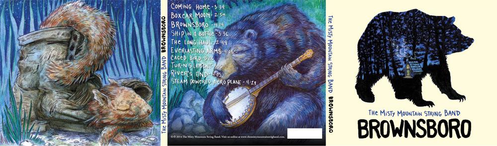 "Misty Mountain String Band ""Brownsboro"" CD Digipack Outside"