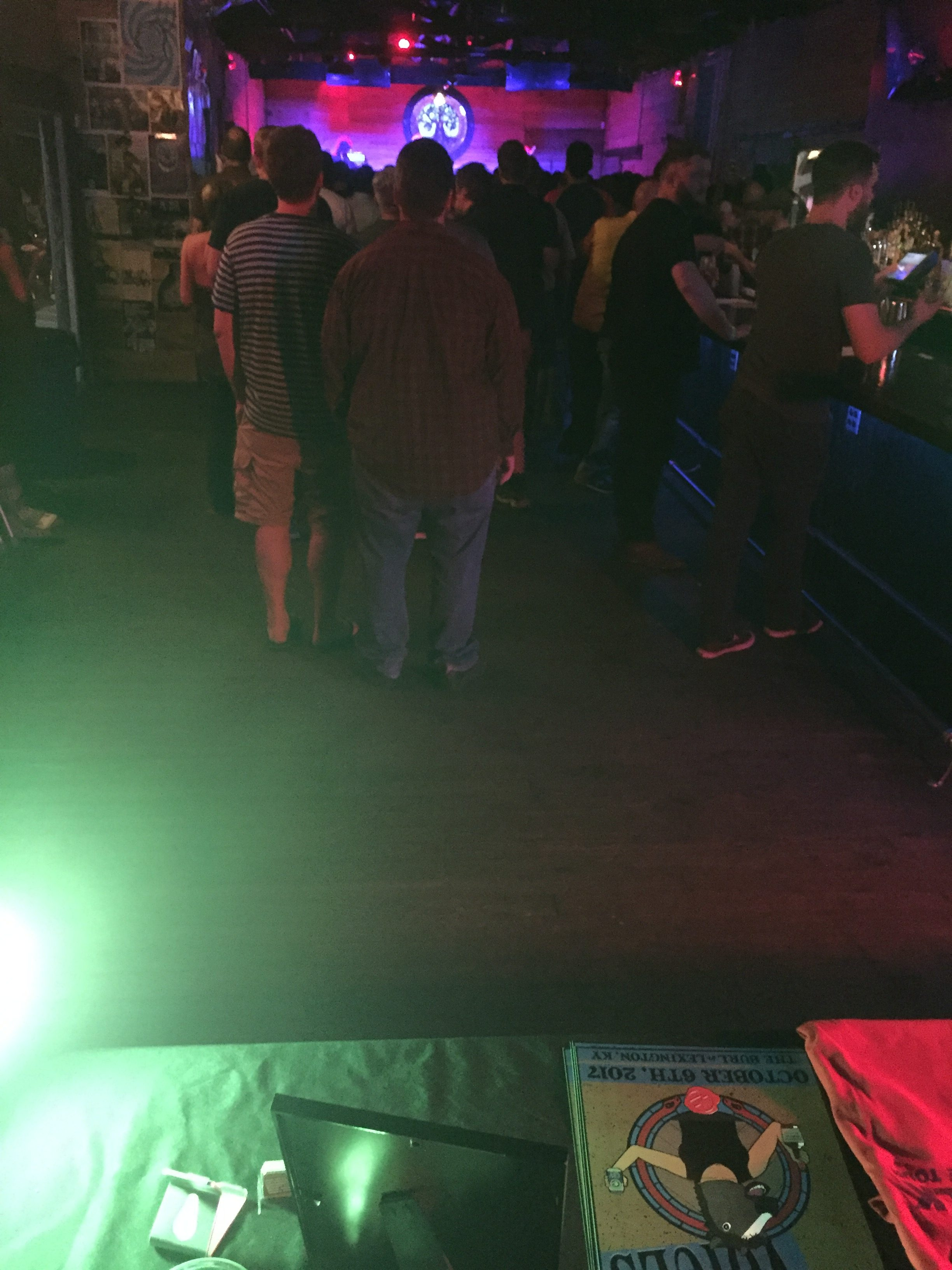 A view from the merch table of the sold out show at The Burl in Lexington, KY.