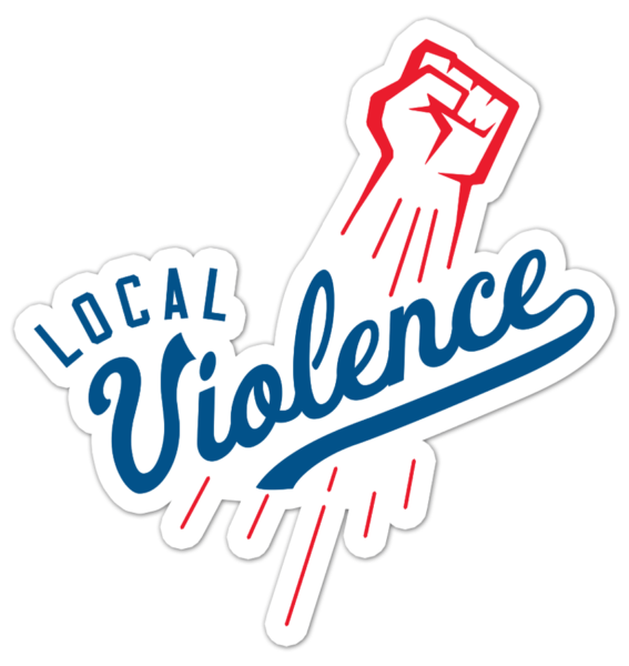 Local Violence band sticker design