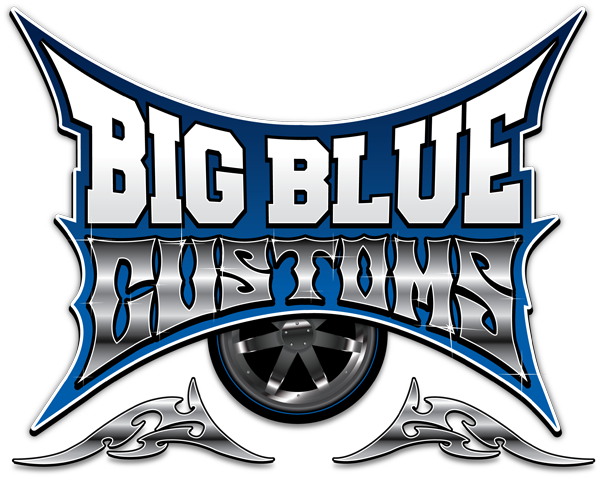 Big Blue Customs Hot Rod Logo Design in Lexington, KY