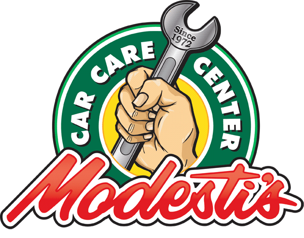 Auto repair logo design for Modesti's Car Care Center in California
