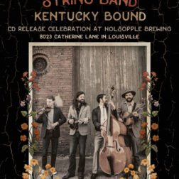 Bluegrass band CD release flyer by Kentucky poster designer