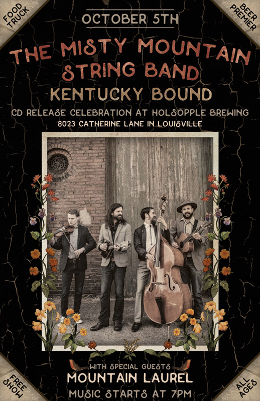 Louisville, Kentucky CD release flyer by Bluegrass poster designer