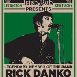Rick Danko poster design (The Band) by Lexington, KY graphic designer